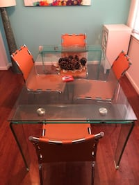 rectangular glass top table with four chairs Falls Church, 22043
