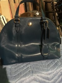Leather coach satchel