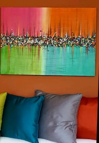 34x24 inches abstract acrylic painting  Vaughan, L4J 8T1