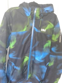 black, blue, and green windbreaker CAPITOLHEIGHTS