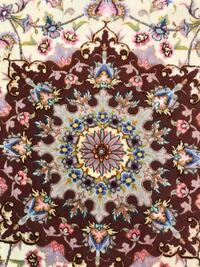 Round hand knotted rug