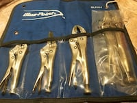 Mint Blue Point (snap on) locking pliers set