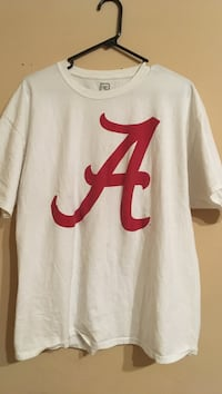 White and red Alabama shirt Muscle Shoals