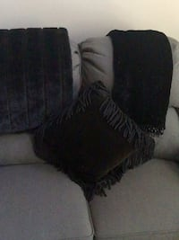 2 black throws/pillow