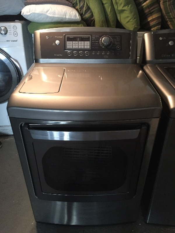 Laundry Pair In Granite Steel Lg Ultra Large Capacity Washer Dryer Combination 995 Total