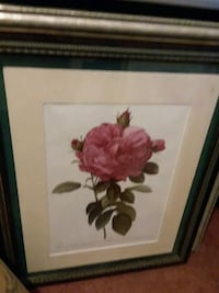 red and white flower painting with black wooden frame Tempe, 85282