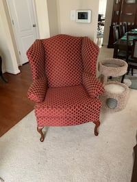 brown wooden frame brown padded armchair Glen Burnie, 21060