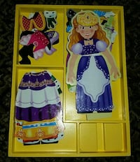 2 Melissa and Doug wooden magnetic puzzles