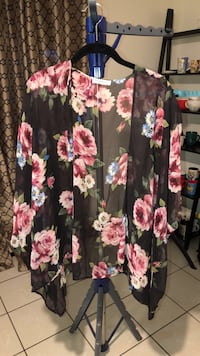 black, pink, and green floral skirt Bakersfield, 93306