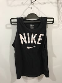 black and white Nike tank top VANCOUVER