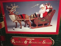Animated Santa in Sleigh and Animated Reindeer.  Gardendale, 35071