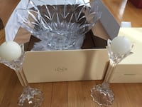Lenox Crystal Candle Holders & Centerpiece
