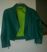 Turquoise leather La Senza Girl jacket Hamilton