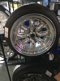 Chrome MSR 17 inch 2 piece wheels 5x114.3 BRAND NEW WAS $1999.99 NOW $1299.99!  Indianapolis, 46227
