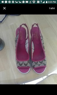 Coach wedge signature shoes