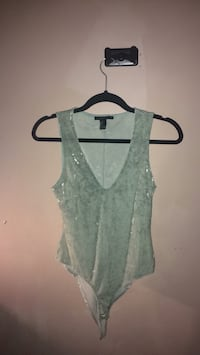 Small crushed velvet blue bodysuit forever 21 Mississauga, L5R 4C6