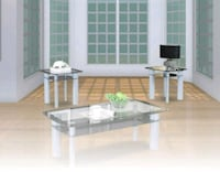 glass 3pc coffee table Brand New Catonsville, 21228