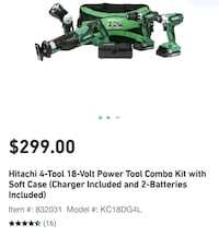 )))NEW((( >18V Lithium Ion< 4-Piece Combo Kit Metabo HPT