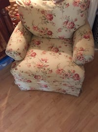white and pink floral sofa chair Troy, 12180