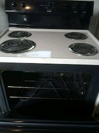 white and black 4-coil electric range oven Saint Petersburg