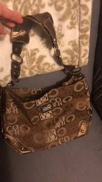 brown monogrammed Coach leather hobo bag Frederick, 21703