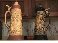 Two brown-and-black ceramic vases Hampstead, 21074