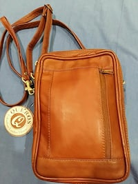 brown Queros leather crossbody bag