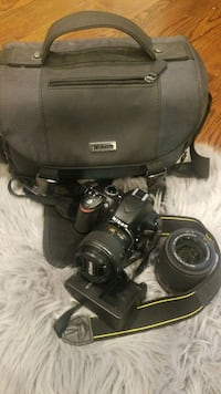 Nikon D3200 Bundle Pak - 2 lens/bag/sd card Daly City, 94015