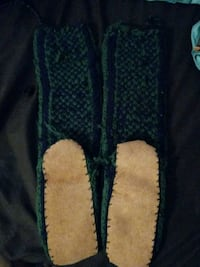 Knit calf high slippers. Cary, 60013