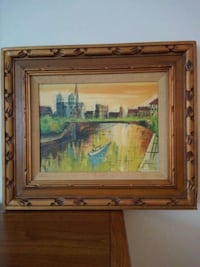 wooden framed painting  Somerset