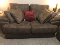 Brown suede 2-seat sofa Rockville, 20850