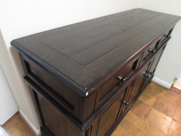 Ashley, solid wood server (almost new)