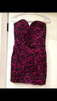 red and black floral sweetheart neckline mini dress 3735 km