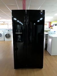 Samsung black side by side refrigerator  Woodbridge, 22191