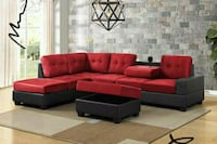 Heights Red/Black Reversible Sectional 1201 mi
