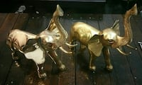 Solid brass pair of Elephant Oakville
