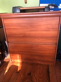 Double wide file cabinet