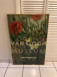 Collectible Van Gogh Poppy Framed Painting Falls Church, 22044