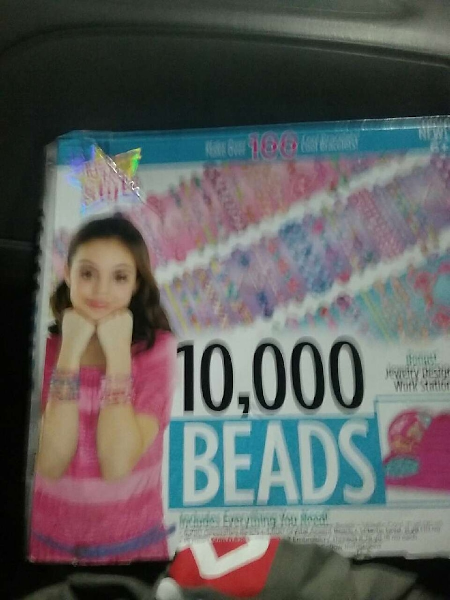10,000 beads labeled box