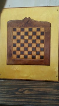 Vintage Inlay Chess Checker Board Solid Wood Hand  Zellwood, 32798