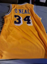 Shaquile O'Neal Gold Lakers Jersey Woodbine, 21797