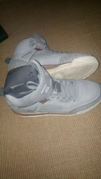 pair of gray Air Jordan basketball shoes Victoria