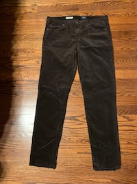 Adriano (AG) Brown Corduroy Pants   Oak Forest, 60452
