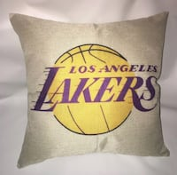 Lakers NBA couch size pillow 17 x 17