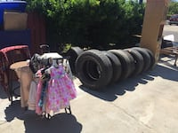 vehicle tires. Some new some used, lots of tread Fresno, 93728