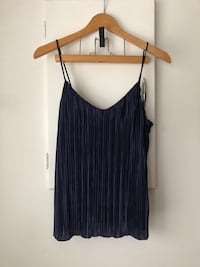 Navy Pleated Top Size S (Fits M+) Richmond, V6Y 2B6
