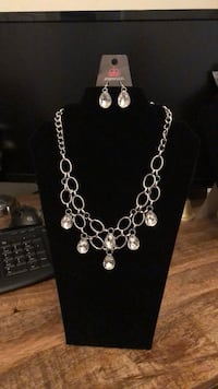 silver-colored necklace and earrings San Antonio, 78227