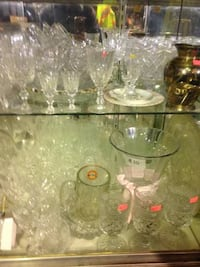 Crystal Glasses Bowls etc $2+up New Westminster, V3M 3P1