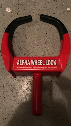 Red and black Alpha Wheel Lock
