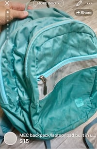 MEC backpack/laptop/Ipad built in used but loved London, N5W 1E8